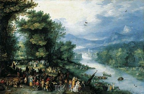 Animal Bon Dormeur by Landscape With Tobias Jan Bruegel The Elder