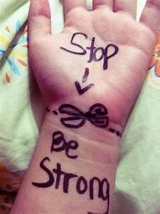 stop cutting | Tumblr | Stop bullying ! | Pinterest ...