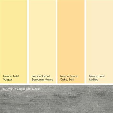 from left to right lemon twist from valspar lemon sorbet