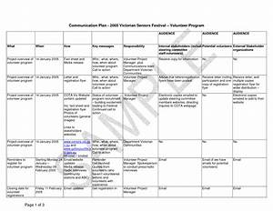 best photos of business communication plan templates With internal comms strategy template