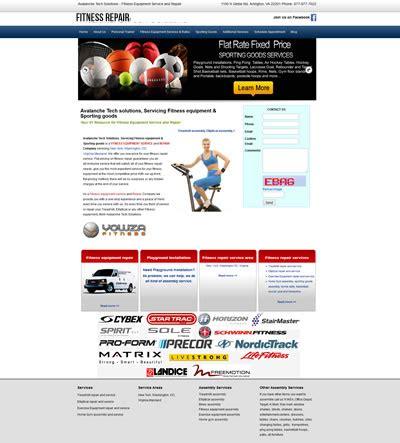 web design virginia web design sports fitness virginia web designers