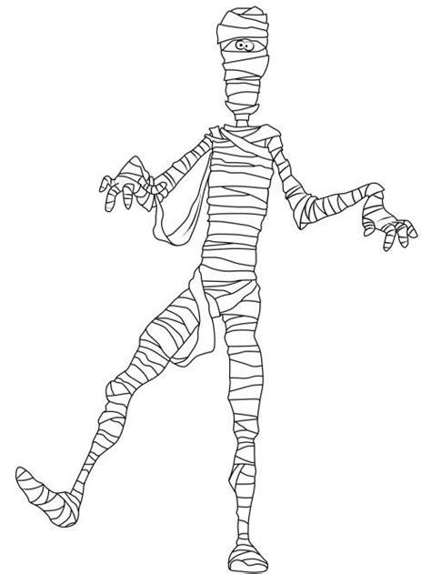 kostenlose malvorlage halloween mumie ausmalen zum ausmalen