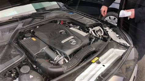 An oil dipstick with this model of benz. How to check and top up the engine oil level with oil dipstick Mercedes Benz C180 Coupe DIY ...