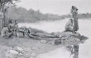 The Death Of Indian Chief Alexander Drawing by Howard Pyle