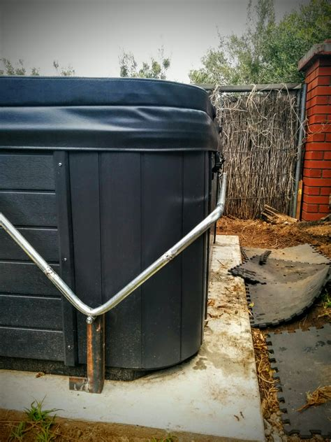 home made tub cover diy spa cover lifter home made for 50 metal conduit frame