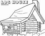 Coloring Log Cabin Pages Jawar Printable Template Colorings Templates sketch template