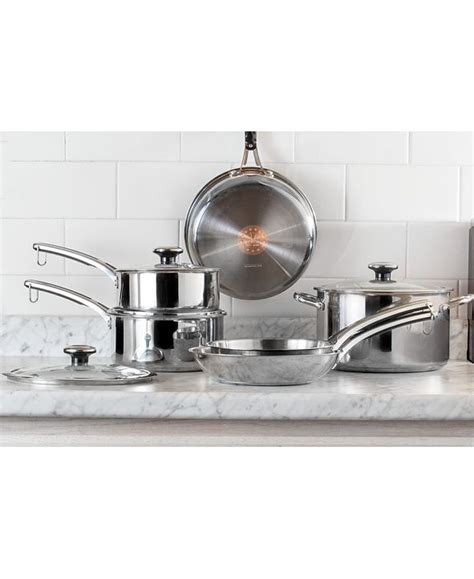 revere confidence core  pc stainless steel cookware