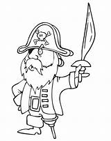 Pirate Pirates Coloring Coloriage Des Sword Imprimer Pages Caraibes Omalovanky Dessin Vytisknuti Colorier Leg Dessins Printactivities Drawing Wooden Printable Captain sketch template