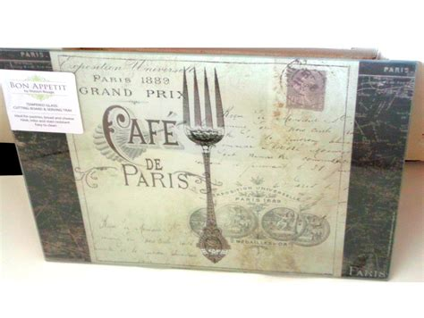 tempered glass cutting board heat resistant bon appetit cafe de glass cutting board serving tray