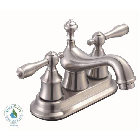 Glacier Bay Bathroom Sink Faucets by Glacier Bay Estates 4 In Centerset 2 Handle Low Arc