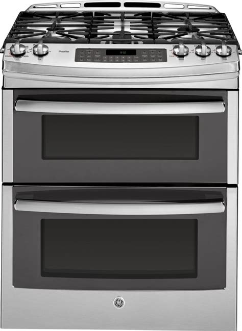 ge pgs950sefss 30 inch slide in oven gas range with