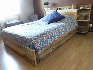 Fabriquer Un Lit En Palette : base de lit en bois plan gratuit ides avec base de lit en bois plan gratuit avec chambre ~ Dode.kayakingforconservation.com Idées de Décoration