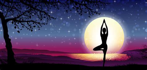 banner vertical meditation silhouette  nature vector