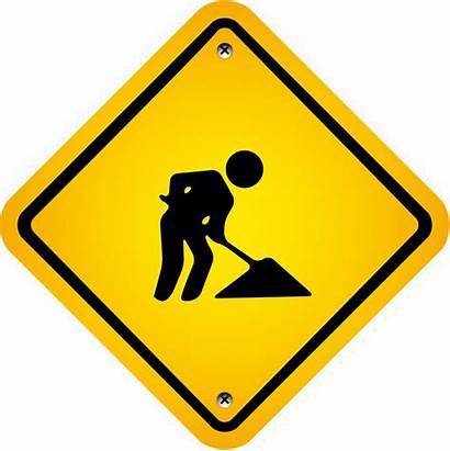 Construction Transparent Icon Signs Ahead Danger Clip