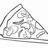 Pizza Coloring Pages Drawing Cheese Clipart York Hut Print Whole Macaroni Sheet Toppings Food Getdrawings Printable Z06 Corvette Getcolorings Clipartpanda sketch template
