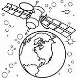 Coloring Satellite Spaceship Satelite Drawings Netart Vehicles Designlooter 600px 93kb sketch template