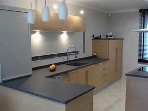 Plan De Travail Granit Pas Cher : plan travail gris cheap cuisine laquee blanche plan de ~ Premium-room.com Idées de Décoration