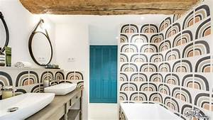 Meuble Salle De Bain Retro Chic : salle de bain retro chic salle de bain rtro u ides uniques et dco with salle de bain retro chic ~ Teatrodelosmanantiales.com Idées de Décoration