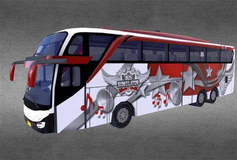 livery templates bus simulator indonesia