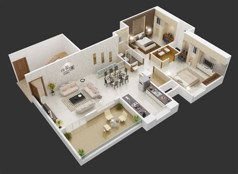 25 More 3 Bedroom 3d Floor Plans by 25 More 3 Bedroom 3d Floor Plans 2 Interior Sketch