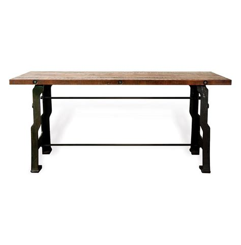 wood and iron desk hector 39 a frame 39 industrial reclaimed wood cast iron desk