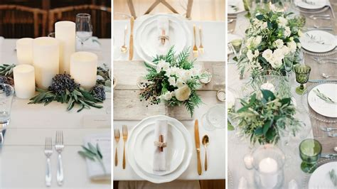 deco mariage fait maison winter white table ideas unveiled by zola