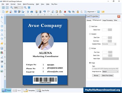 id card maker software  identity card create id badge