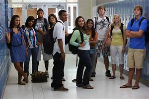 High school students in school hallway | Class Action ...