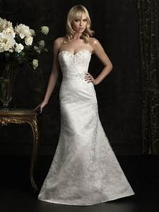 slim fitted mermaid strapless lace beaded wedding dress With fitted mermaid wedding dresses