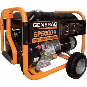 Generac Gp6500 Portable Generator  U2014 8 125 Surge Watts  6 500 Rated Watts  Model  5940