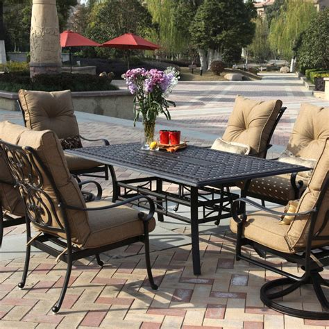 darlee patio furniture santa darlee santa 7 cast aluminum patio dining set