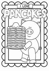 Pancake Printables Coloring Pancakes Pages Preschool Crafts Letter Pajamas Colouring Pajama Posters Activities Pj Everyone Much Pig Teacherspayteachers Church Fun sketch template