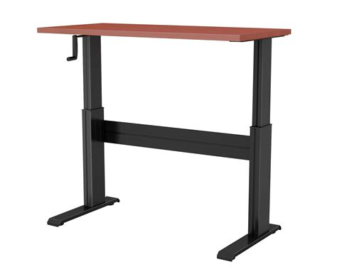 sit stand desk base newheights vuelta manual hand crank sit to stand desk