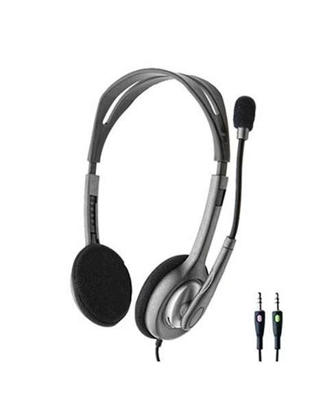stereo headset logitech h110 buy logitech h110 stereo headset with mic at best