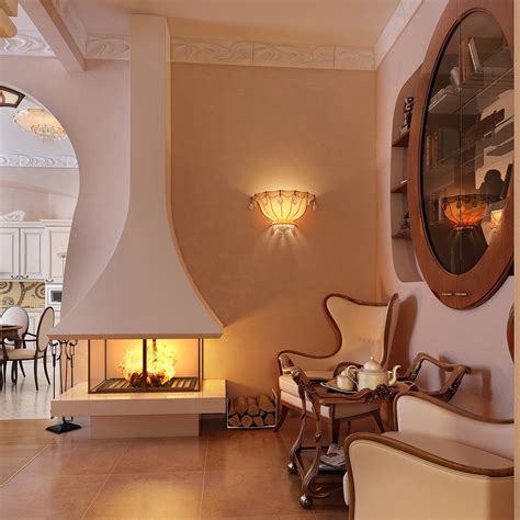 design living room with beautiful wall lighting fantastic