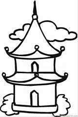 Temple Buddhist Coloring Drawing Buddha Pages Chinese Buddhism Pagoda Printable Japanese Easy Simple Google Sketch Thai Supercoloring Result Template 2009 sketch template