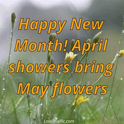 Month April Happy Showers Flowers Bring