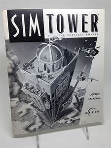 Maxis Sim Tower User Manual Instruction Guide Only Mac