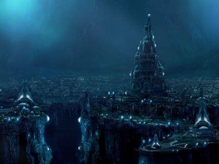 underground city fantasy abstract background