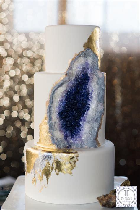 cake trend geode wedding cakes  brides life