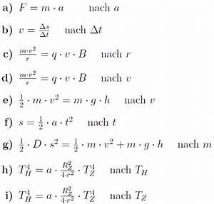 Einheiten Berechnen : formeln umformen ~ Themetempest.com Abrechnung