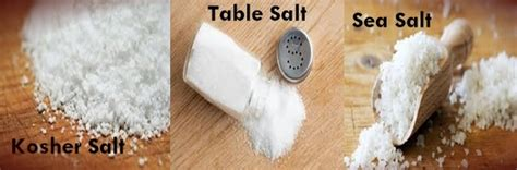 what is the difference between sea salt and table salt difference between kosher salt table salt and sea salt