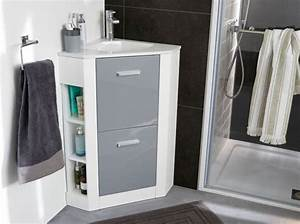 Meuble Pour Petite Salle De Bain : meuble salle de bain en coin soin en image ~ Dailycaller-alerts.com Idées de Décoration