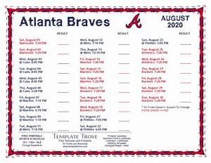 Printable May 2020 Calendar Printable 2020 Atlanta Braves Schedule