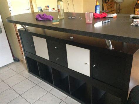 ikea meuble bar cuisine table de bar avec kallax