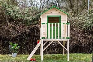 Maisonnette En Bois Sur Pilotis : maisonnette en bois pour enfant sur pilotis peinte ~ Dailycaller-alerts.com Idées de Décoration