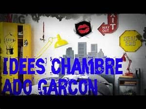 Décoration Chambre Ado Garçon : id es d co de chambre ado gar on youtube ~ Melissatoandfro.com Idées de Décoration