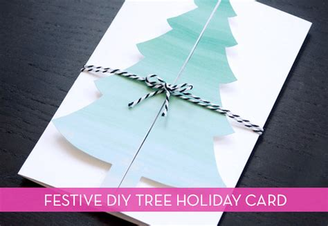 handmade christmas tree card  printable curbly