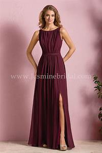 jasmine bridal bridesmaid dress b2 style b173052 in With cranberry dresses for wedding