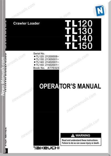 takeuchi tl tl tl  ate operators manual